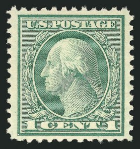 Sale Number 838, Lot Number 885, 1916-23 Issues (Scott 541 to 547)1c Green, Rotary (545), 1c Green, Rotary (545)
