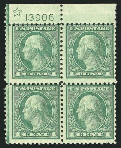 Sale Number 838, Lot Number 886, 1916-23 Issues (Scott 541 to 547)1c Green, Rotary (545), 1c Green, Rotary (545)