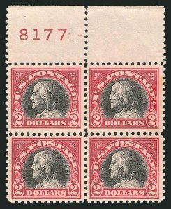 Sale Number 838, Lot Number 888, 1916-23 Issues (Scott 541 to 547)$2.00 Carmine & Black (547), $2.00 Carmine & Black (547)