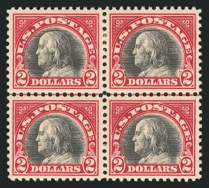 Sale Number 838, Lot Number 890, 1916-23 Issues (Scott 541 to 547)$2.00 Carmine & Black (547), $2.00 Carmine & Black (547)