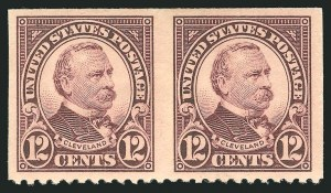Sale Number 838, Lot Number 891, 1922 and Later Issues12c Brown Violet, Horizontal Pair, Imperforate Vertically (564a), 12c Brown Violet, Horizontal Pair, Imperforate Vertically (564a)