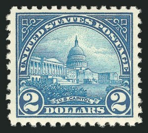 Sale Number 838, Lot Number 893, 1922 and Later Issues$2.00 Deep Blue (572), $2.00 Deep Blue (572)