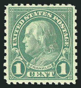 Sale Number 838, Lot Number 896, 1922 and Later Issues1c Green, Rotary (578), 1c Green, Rotary (578)