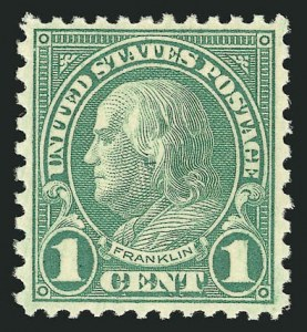 Sale Number 838, Lot Number 897, 1922 and Later Issues1c Green, Rotary (578), 1c Green, Rotary (578)