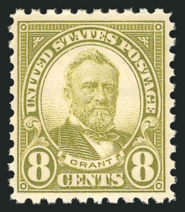 Sale Number 838, Lot Number 901, 1922 and Later Issues8c Olive Green, Perf 10 (589), 8c Olive Green, Perf 10 (589)