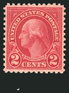 Sale Number 838, Lot Number 906, 1922 and Later Issues2c Carmine, Rotary, Perf 11 (595), 2c Carmine, Rotary, Perf 11 (595)
