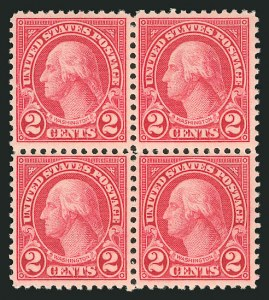Sale Number 838, Lot Number 907, 1922 and Later Issues2c Carmine, Rotary, Perf 11 (595), 2c Carmine, Rotary, Perf 11 (595)