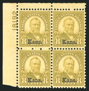 Sale Number 838, Lot Number 909, 1922 and Later Issues1c-10c Kans., Nebr. Overprints (658-679), 1c-10c Kans., Nebr. Overprints (658-679)
