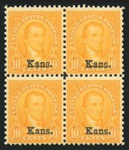 Sale Number 838, Lot Number 910, 1922 and Later Issues1c-10c Kans., Nebr. Overprints (658-679), 1c-10c Kans., Nebr. Overprints (658-679)