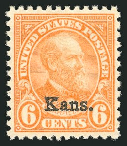 Sale Number 838, Lot Number 912, 1922 and Later Issues6c Kans. Ovpt. (664), 6c Kans. Ovpt. (664)