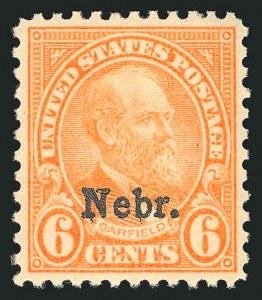 Sale Number 838, Lot Number 913, 1922 and Later Issues6c Nebr. Ovpt. (675), 6c Nebr. Ovpt. (675)