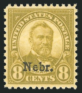 Sale Number 838, Lot Number 914, 1922 and Later Issues8c Nebr. Ovpt. (677), 8c Nebr. Ovpt. (677)