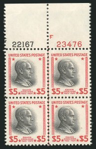 Sale Number 838, Lot Number 915, 1922 and Later Issues$5.00 Presidential (834), $5.00 Presidential (834)