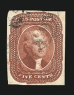 Sale Number 838, Lot Number 93, 5c 1856 Issue5c Red Brown (12), 5c Red Brown (12)