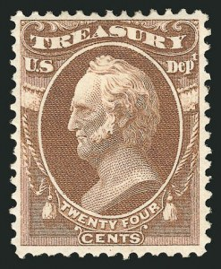 Sale Number 838, Lot Number 985, Officials24c Treasury (O80), 24c Treasury (O80)