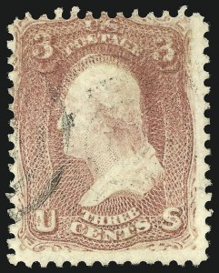 Sale Number 839, Lot Number 514, 1861-66 Issue (Scott 56 to 65f)3c Rose, Double Impression (65f), 3c Rose, Double Impression (65f)