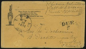 Sale Number 840, Lot Number 28, Stampless Patriotic CoversIuka Miss. Oct. 10, 1861, Iuka Miss. Oct. 10, 1861