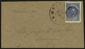 Sale Number 840, Lot Number 394, General Issues On-Cover (No. 2)10c Dark Blue, Paterson (2b), 10c Dark Blue, Paterson (2b)