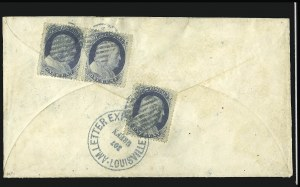 Sale Number 841, Lot Number 1003, Confederate StatesAm. Letter Exp. Co. Louisville Ky. 367 Green, Am. Letter Exp. Co. Louisville Ky. 367 Green