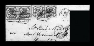 Sale Number 841, Lot Number 1006, Confederate StatesIncoming Mail from Rome to New Orleans, Post-War, Incoming Mail from Rome to New Orleans, Post-War