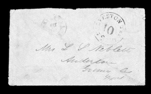 Sale Number 841, Lot Number 1022, Confederate States Postmasters ProvisionalsGalveston Tex., 10c Black entire (98XU3), Galveston Tex., 10c Black entire (98XU3)