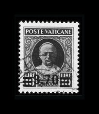 Sale Number 841, Lot Number 2087, Spain thru Vatican CityVATICAN CITY, 1934, 40c on 80c-3.70l on 10l Overprints (35-40), VATICAN CITY, 1934, 40c on 80c-3.70l on 10l Overprints (35-40)