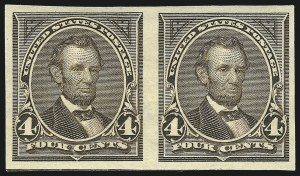 Sale Number 843, Lot Number 1621, 1894-98 Bureau Issues (Scott 264 - 284)4c Dark Brown, Imperforate (269a), 4c Dark Brown, Imperforate (269a)