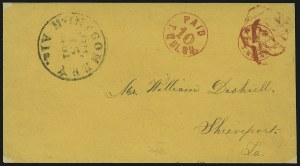 Sale Number 846, Lot Number 2473, Confederate StatesMontgomery Ala., 10c on 5c Red entire (59XU6), Montgomery Ala., 10c on 5c Red entire (59XU6)