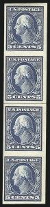 Sale Number 847, Lot Number 3912, 1908-09 Washington-Franklin Issues (Scott 331 5c Blue, Imperforate Coil (347V), 5c Blue, Imperforate Coil (347V)