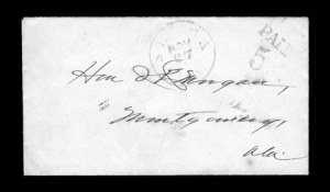 Sale Number 850, Lot Number 5084, Handstamped Paid and Due Markings (Alabama)Selma Ala. Nov. 27, Selma Ala. Nov. 27