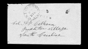 Sale Number 850, Lot Number 5093, Handstamped Paid and Due Markings (Alabama)Uniontown Ala. Mar. 25, Uniontown Ala. Mar. 25