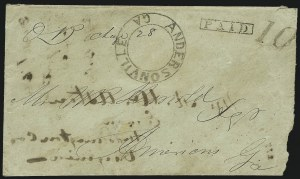 Sale Number 850, Lot Number 5136, Handstamped Paid and Due Markings (Georgia)Andersonville Ga, Andersonville Ga