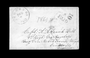 Sale Number 850, Lot Number 5139, Handstamped Paid and Due Markings (Georgia)Athens Ga. Dec. 7, Athens Ga. Dec. 7