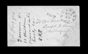 Sale Number 850, Lot Number 5144, Handstamped Paid and Due Markings (Georgia)Blakely Ga. Aug. 26, Blakely Ga. Aug. 26