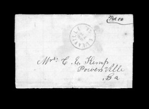 Sale Number 850, Lot Number 5168, Handstamped Paid and Due Markings (Georgia)Ellaville Ga. Aug. 18, Ellaville Ga. Aug. 18