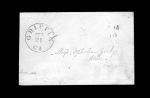 Sale Number 850, Lot Number 5178, Handstamped Paid and Due Markings (Georgia)Griffin Ga. Jul. 21, Griffin Ga. Jul. 21