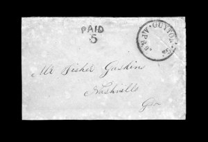 Sale Number 850, Lot Number 5179, Handstamped Paid and Due Markings (Georgia)Guyton Ga. Apr. 9, Guyton Ga. Apr. 9