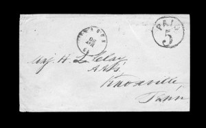 Sale Number 850, Lot Number 5190, Handstamped Paid and Due Markings (Georgia)Macon Ga, Macon Ga