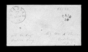 Sale Number 850, Lot Number 5193, Handstamped Paid and Due Markings (Georgia)Manassas Ga. May 8, 1862, Manassas Ga. May 8, 1862
