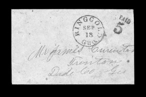 Sale Number 850, Lot Number 5204, Handstamped Paid and Due Markings (Georgia)Ringgold Geo, Ringgold Geo