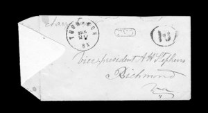 Sale Number 850, Lot Number 5221, Handstamped Paid and Due Markings (Georgia)Thompson Ga. Feb. 20 (1862), Thompson Ga. Feb. 20 (1862)
