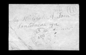 Sale Number 850, Lot Number 5222, Handstamped Paid and Due Markings (Georgia)Tunnel Hill Ga, Tunnel Hill Ga