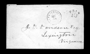 Sale Number 850, Lot Number 5233, Handstamped Paid and Due Markings (Kentucky)Hopkinsville Ky. Jan. 22, 1861, Hopkinsville Ky. Jan. 22, 1861