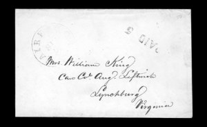 Sale Number 850, Lot Number 5583, Handstamped Paid and Due Markings (Virginia)Fairfax C.H. Va. Sep. 2?, Fairfax C.H. Va. Sep. 2?