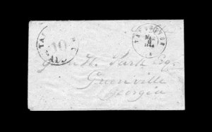 Sale Number 850, Lot Number 5793, Postmasters Provisionals (Statesville to Unionville)Talbotton Ga., 10c Black entire (94XU2), Talbotton Ga., 10c Black entire (94XU2)