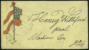 Sale Number 850, Lot Number 5847, Stampless Patriotic Covers (by state)Dawson Ga. Nov. 21, 1861, Dawson Ga. Nov. 21, 1861