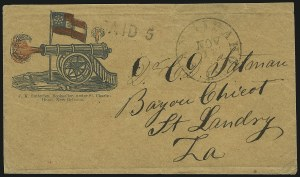 Sale Number 850, Lot Number 5852, Stampless Patriotic Covers (by state)Tangipaho La. Nov. 13, Tangipaho La. Nov. 13