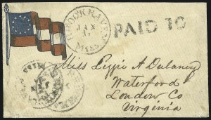 Sale Number 850, Lot Number 5854, Stampless Patriotic Covers (by state)Brookhaven Miss. Jan. 31, Brookhaven Miss. Jan. 31