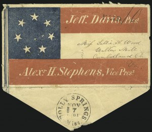 Sale Number 850, Lot Number 5856, Stampless Patriotic Covers (by state)Holly Springs Miss. Nov. 17, 1861, Holly Springs Miss. Nov. 17, 1861