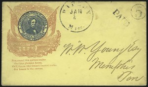 Sale Number 850, Lot Number 5858, Stampless Patriotic Covers (by state)Ripley Miss. Jan. 1, Ripley Miss. Jan. 1